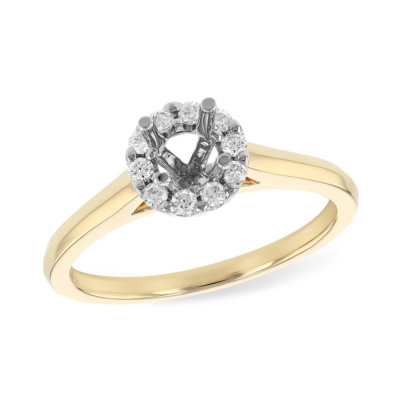 Allison-Kaufman 14KT Gold Semi-Mount Engagement Ring