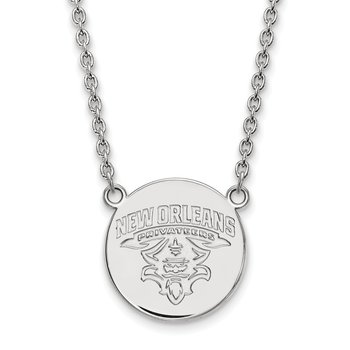 Sterling Silver University of New Orleans NCAA Pendant