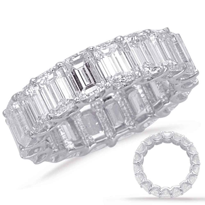 S. Kashi & Sons Bridal Emerald Cut Eternity Band (5.6mm)
