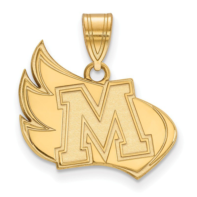 NCAA Gold-Plated Sterling Silver Meredith College NCAA Pendant