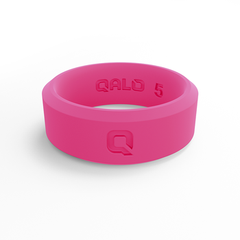 Women's Modern Pink Silicone Ring