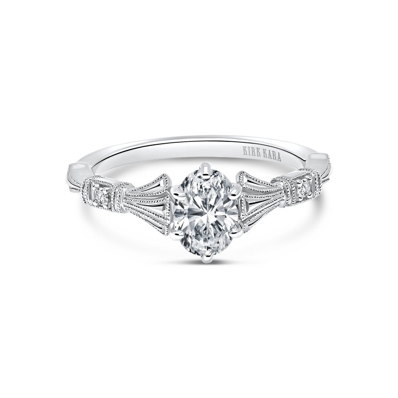 Kirk Kara Three Leaf Diamond Engagement Ring