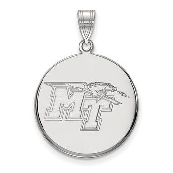Sterling Silver Middle Tennessee State University NCAA Pendant