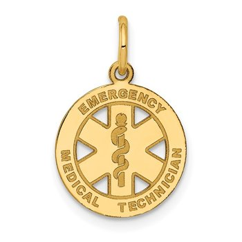 14k Small EMT Medical Charm
