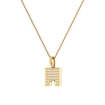 City Arches Pendant in 14 KT Yellow Gold Vermeil on Sterling Silver