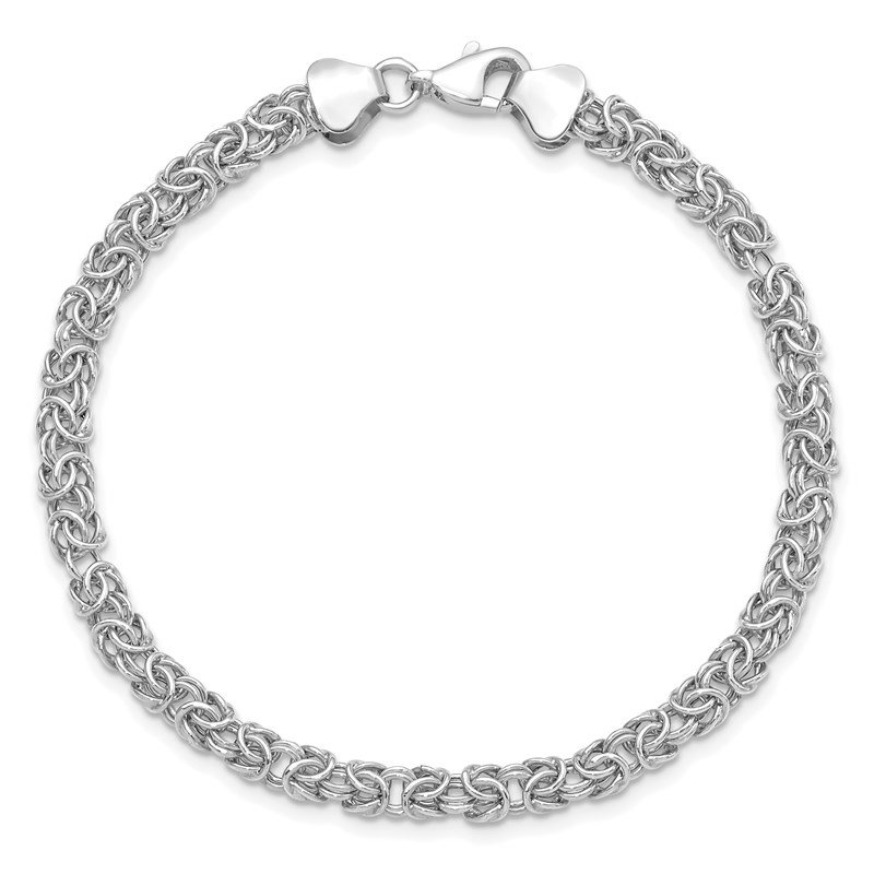 Leslie's Leslie's 14K White Gold Polished Fancy Bracelet
