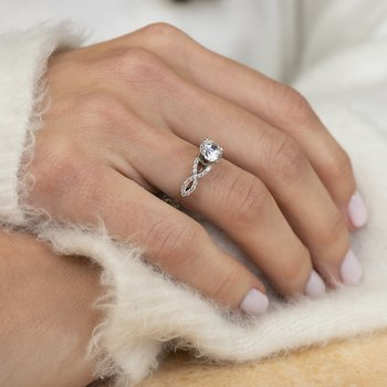 Infinity Engagement Ring by Love Story