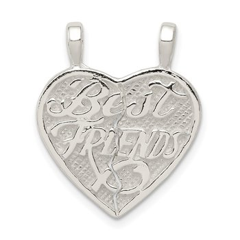 Sterling Silver Best Friends 2-piece break apart Heart Charm