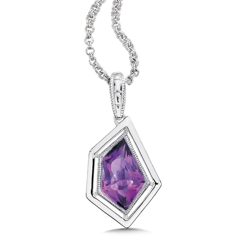 Colore SG Sterling silver and purple amethyst pendant