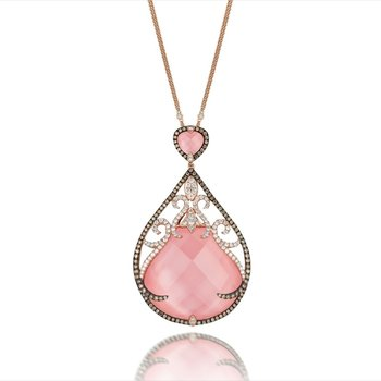 Bella Rosa Rose Quartz Necklace