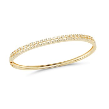 14K Crown shaped Diamond Bangle 0.85CT