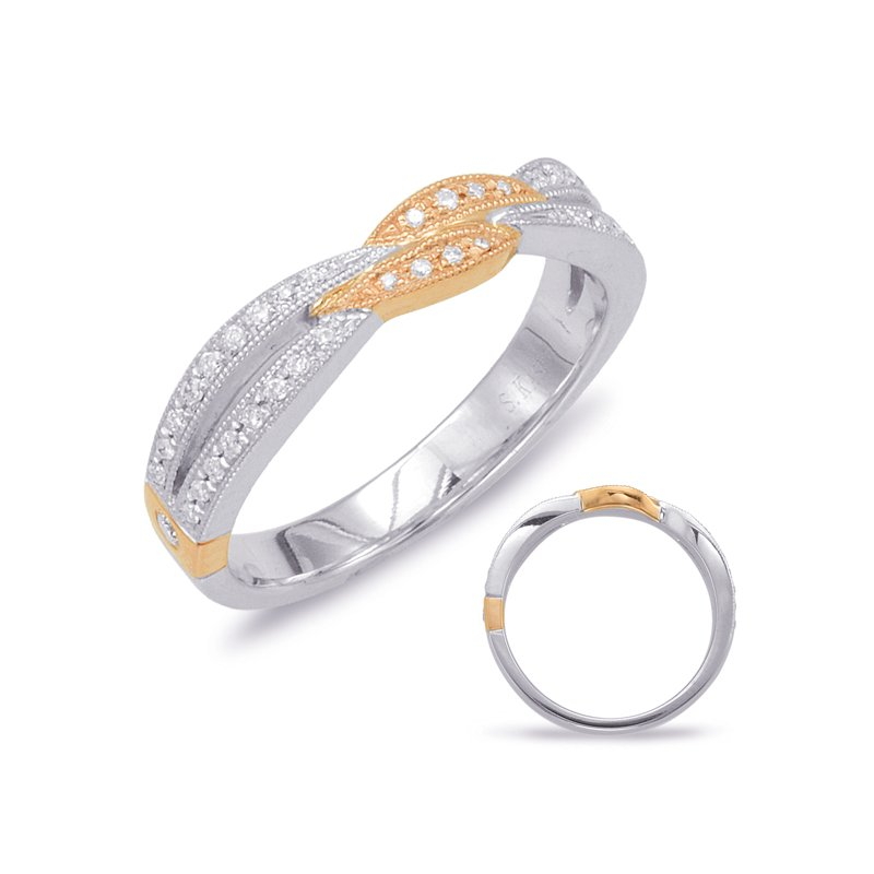 S. Kashi & Sons Bridal White & Rose Gold Matching Band
