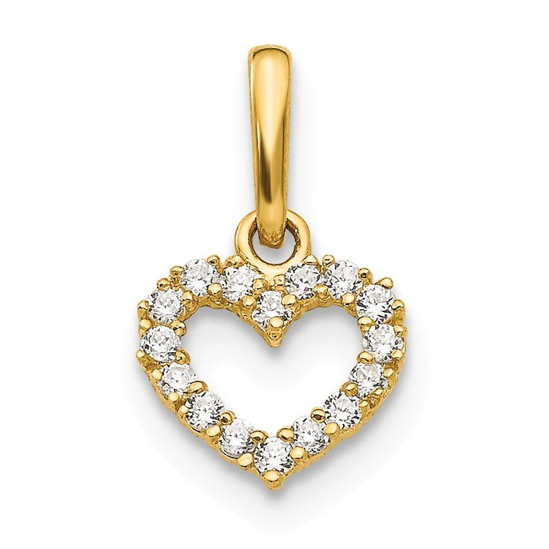 Quality Gold 14k Madi K CZ Children's Heart Pendant
