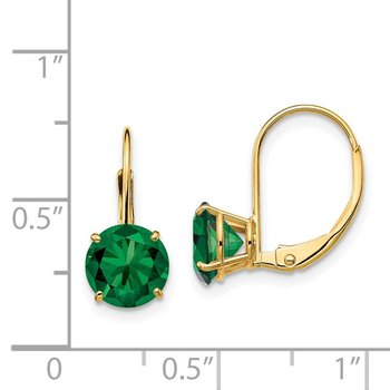 14k 7mm Mount St. Helens Leverback Earrings