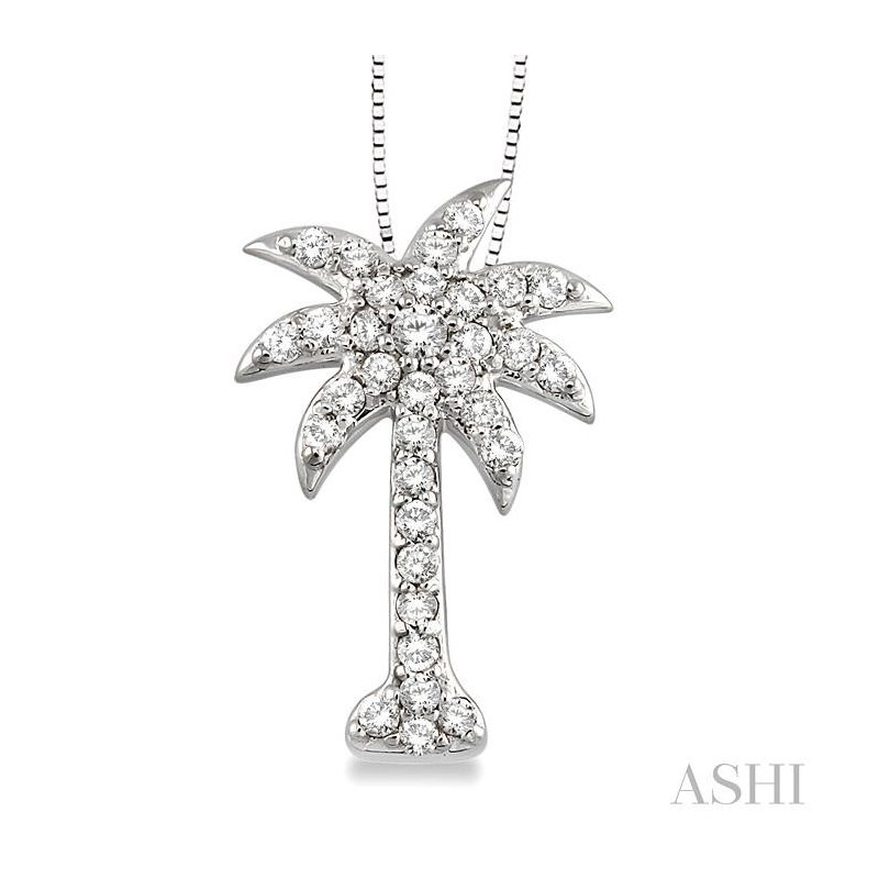 Crocker's Collection palm tree diamond pendant