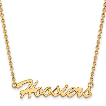 Gold-Plated Sterling Silver Indiana University NCAA Necklace