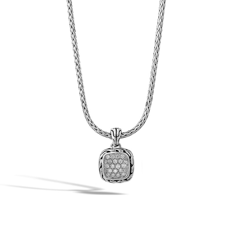 JOHN HARDY Classic Chain Pendant Necklace in Silver with Diamonds