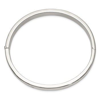 Sterling Silver 9.75mm Hinged Bangle