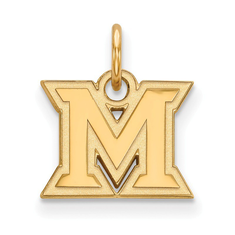 NCAA Gold-Plated Sterling Silver Miami University NCAA Pendant