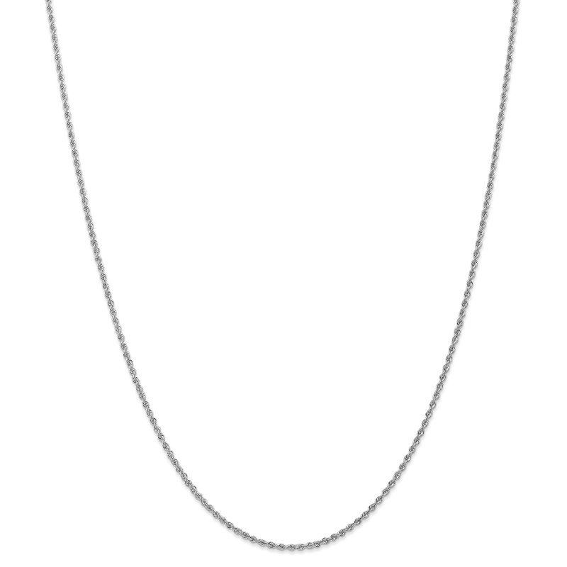 Quality Gold 14k WG 1.5mm Regular Rope Chain