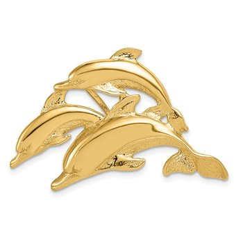 14k Triple Dolphin Fits 5mm/8mm Slide