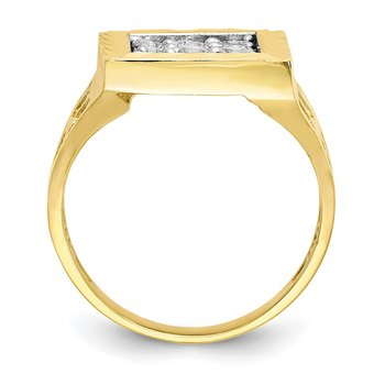 10k Men's CZ Ring