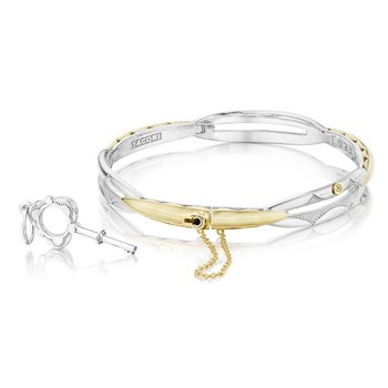 Promise Bracelet Round, Yellow Gold and Silver