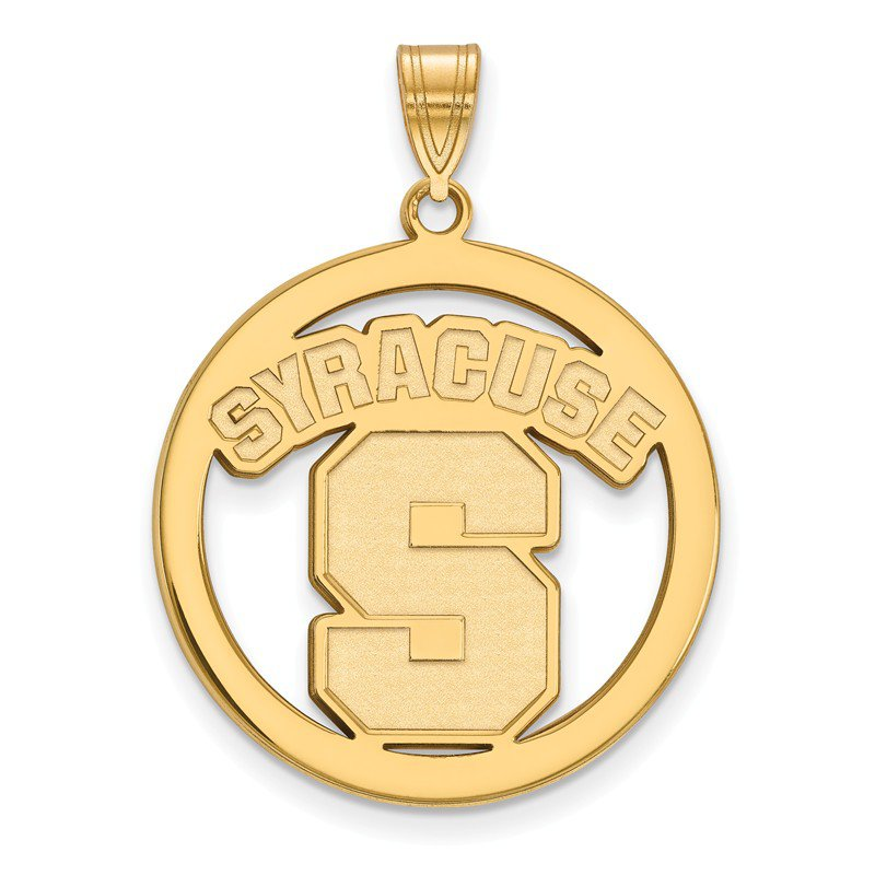 NCAA Gold-Plated Sterling Silver Syracuse University NCAA Pendant