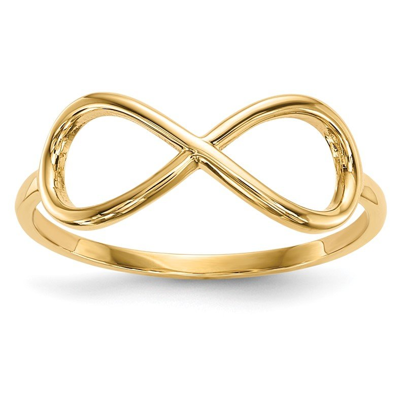 Quality Gold 14k Gold Polished Infinity Ring