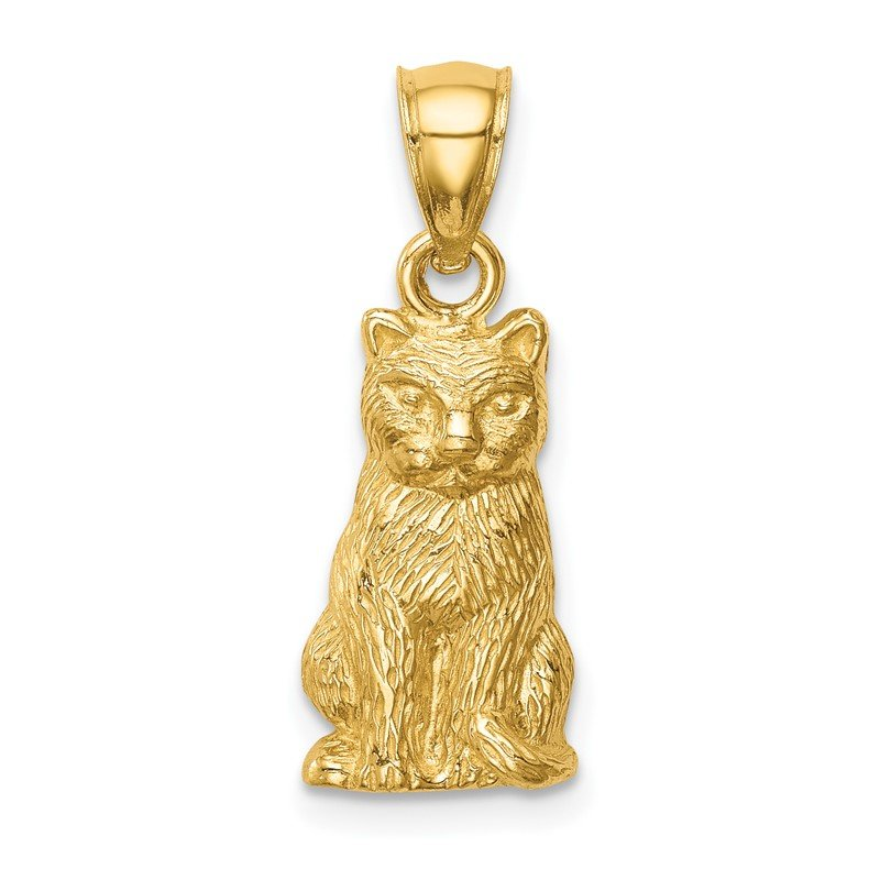 Quality Gold 14K Cat Pendant