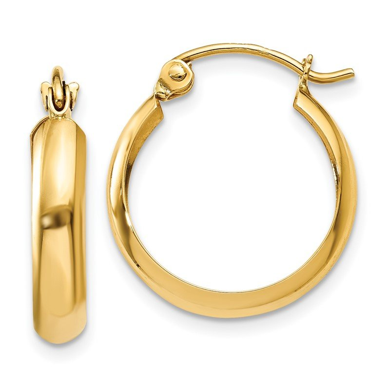 Quality Gold 14k Polished 3.5mm Hoop Earrings