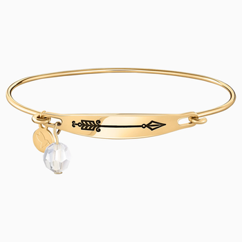Arrow Id Bangle - Gold