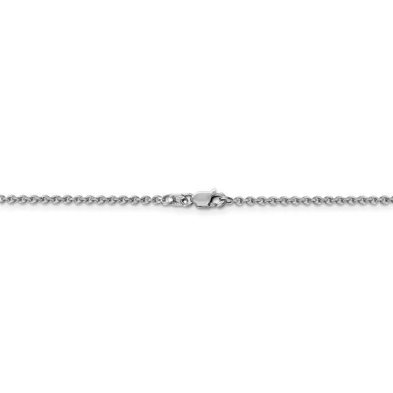 Quality Gold 14k WG 1.8mm Forzantine Cable Chain