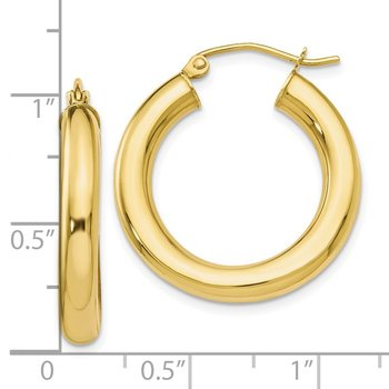 Leslie's 10K Polished Lightweight Hoop Earrings