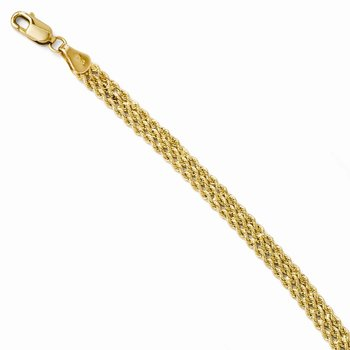 Leslie's 14K 4.5mm Wide Diamond Cut Triple Rope