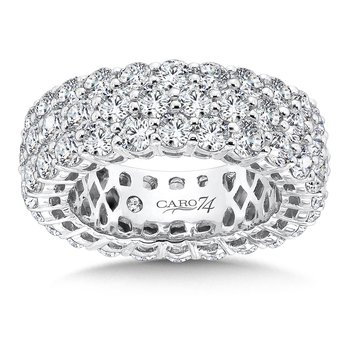 CARO 74 Eternity Band  in 14K White Gold (Size 5.5)