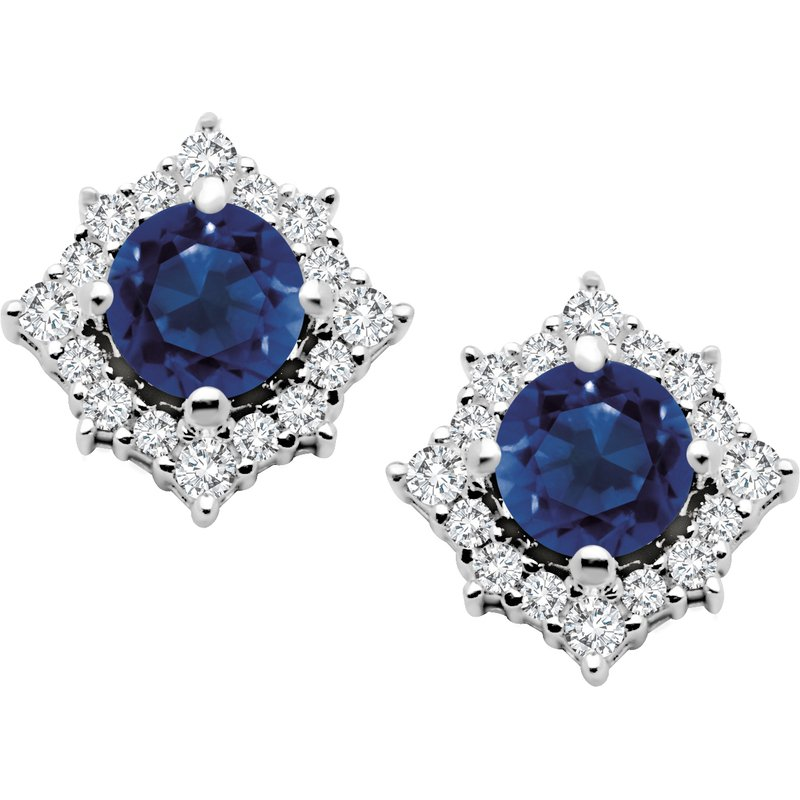 Diamond Wishes Sapphire Earring