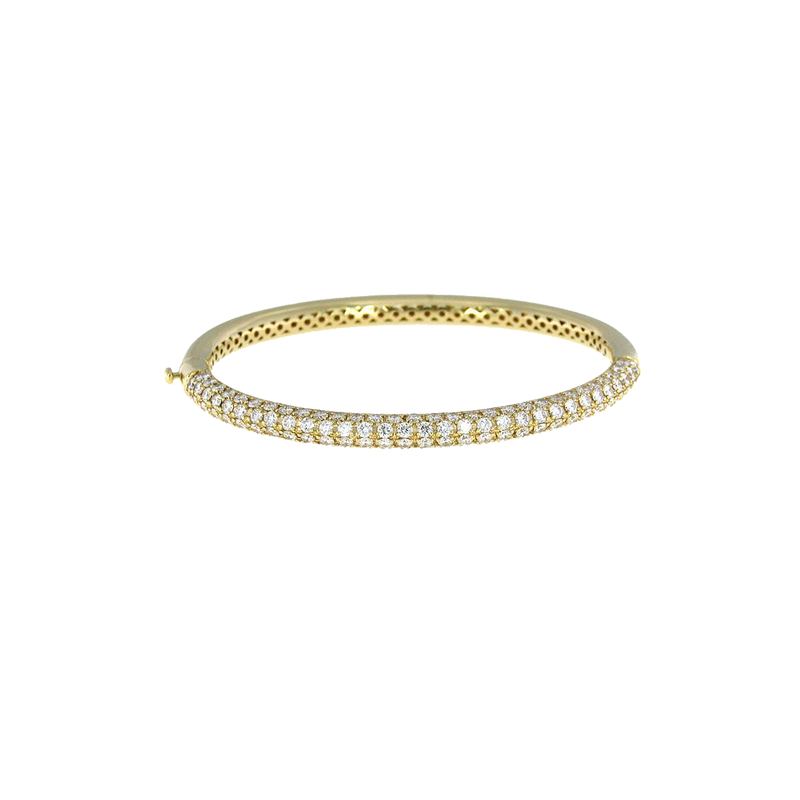 Roberto Coin  #25909 Of 18Kt Gold Bangle With Diamonds