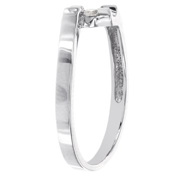 Sterling Silver 1/10ct TDW Diamond Solitaire Promise Ring