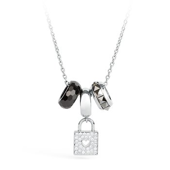 316L stainless steel, ceramic and crystals Swarovski® Elements