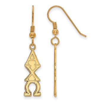Gold-Plated Sterling Silver Alpha Chi Omega Greek Life Earrings