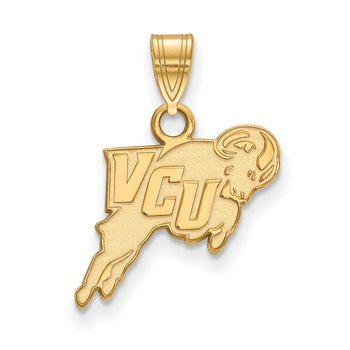 Gold-Plated Sterling Silver Virginia Commonwealth University NCAA Pendant