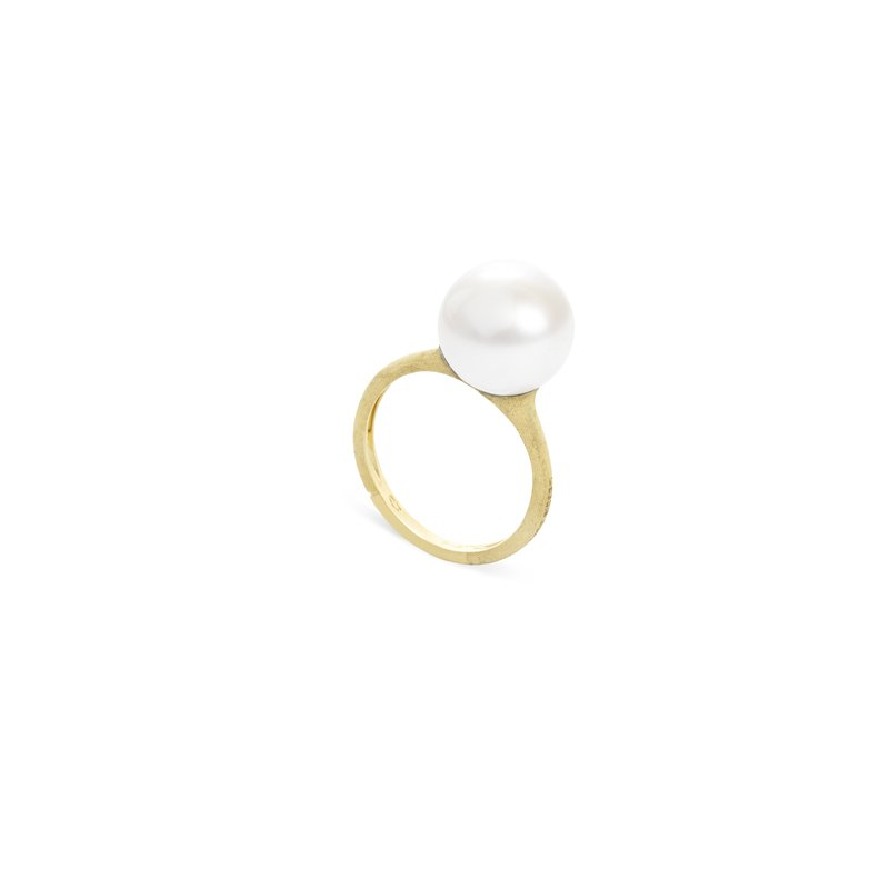 Marco Bicego Marco Bicego® Africa Boule Collection 18K Yellow Gold and Pearl Ring