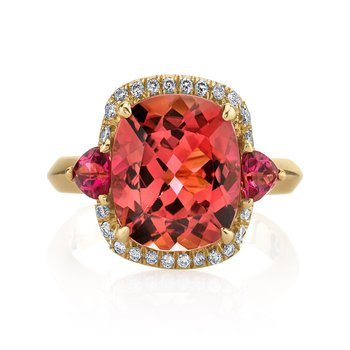 Tourmaline and Diamond Ring