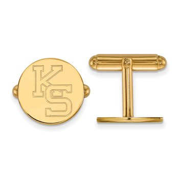 Gold-Plated Sterling Silver Kansas State University NCAA Cuff Links