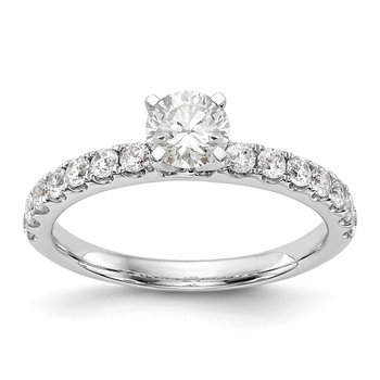 14kw True Origin Lab Grown Diamond VS/SI, D E F, Peg Set Engagement Ring
