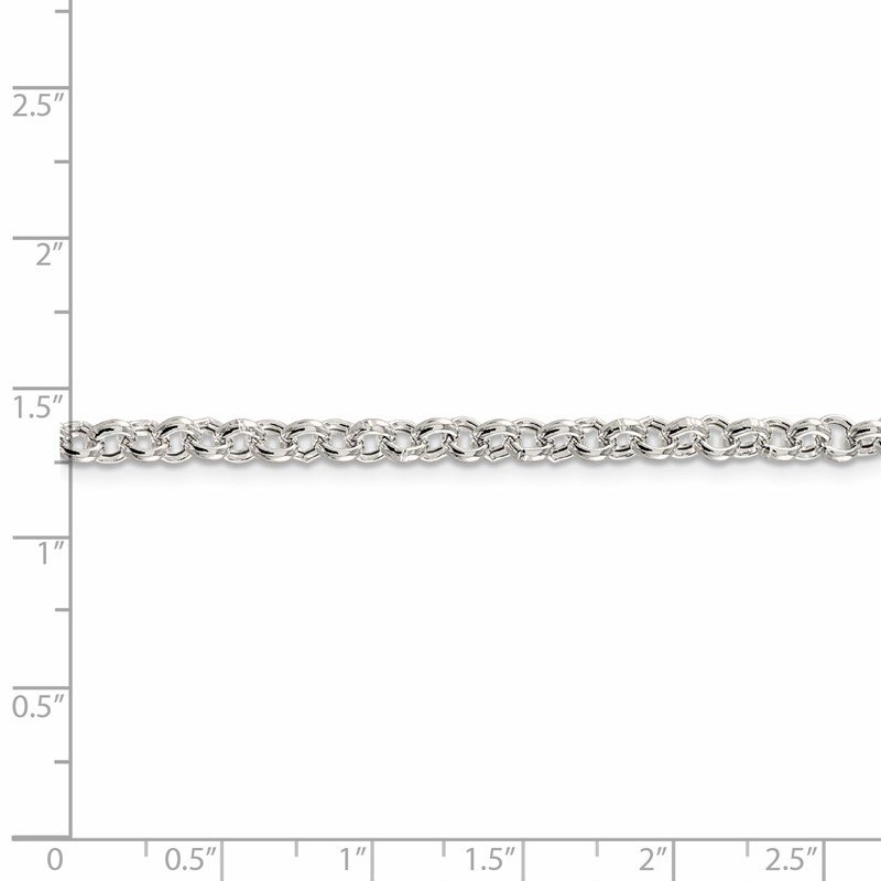 JC Sipe Essentials Sterling Silver 4.25mm Semi-solid Rolo Chain