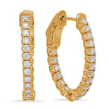 .65 inch Securehinge Oval Hoop Earring