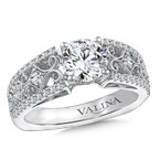 Valina Diamond Engagement Ring Mounting in 14K White Gold (.40 ct. tw.)