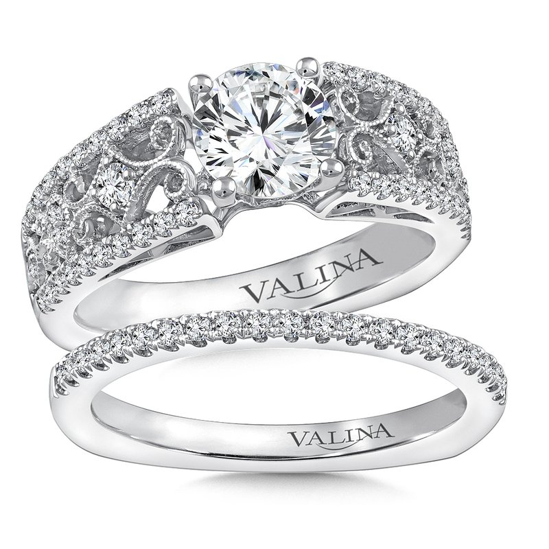 Valina Bridals Diamond Engagement Ring Mounting in 14K White Gold (.40 ct. tw.)